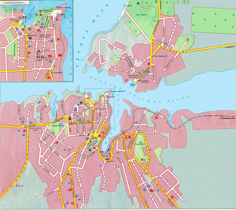 Севастополь карта где находится