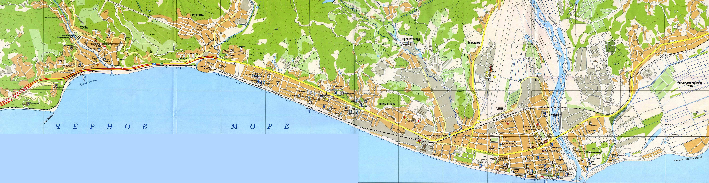Пляж курортного городка адлера отзывы фото карта