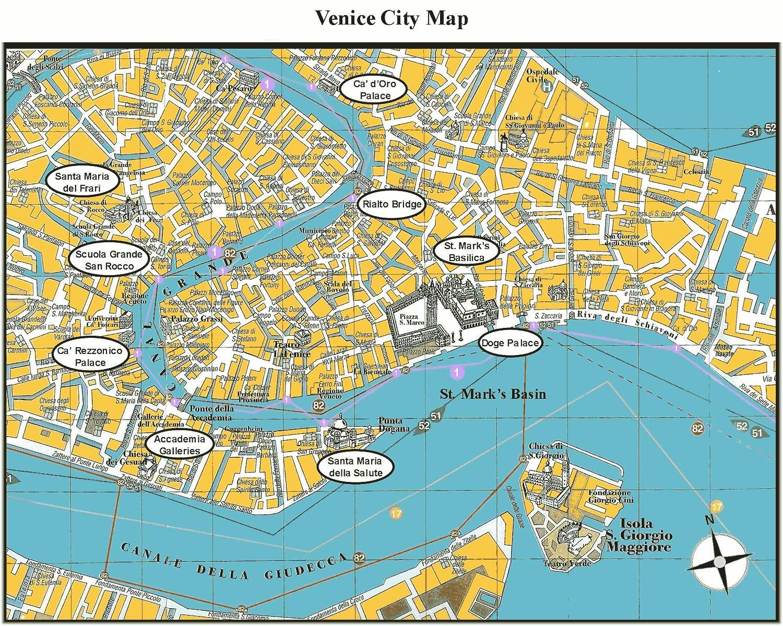 Veneciya Na Karte Mira Podrobnye Karty Venecii Karta Otelej