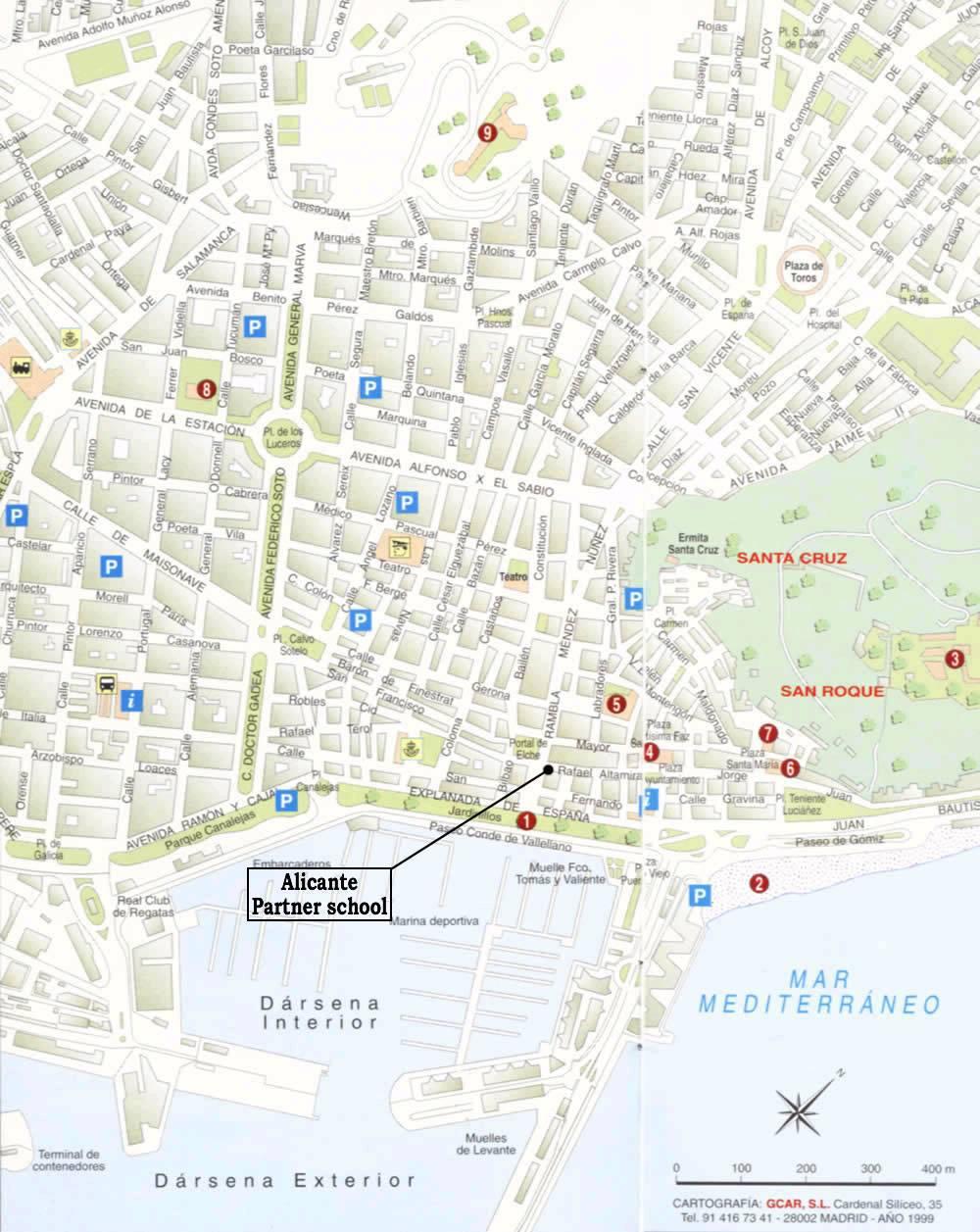 Карта аликанте с отелями