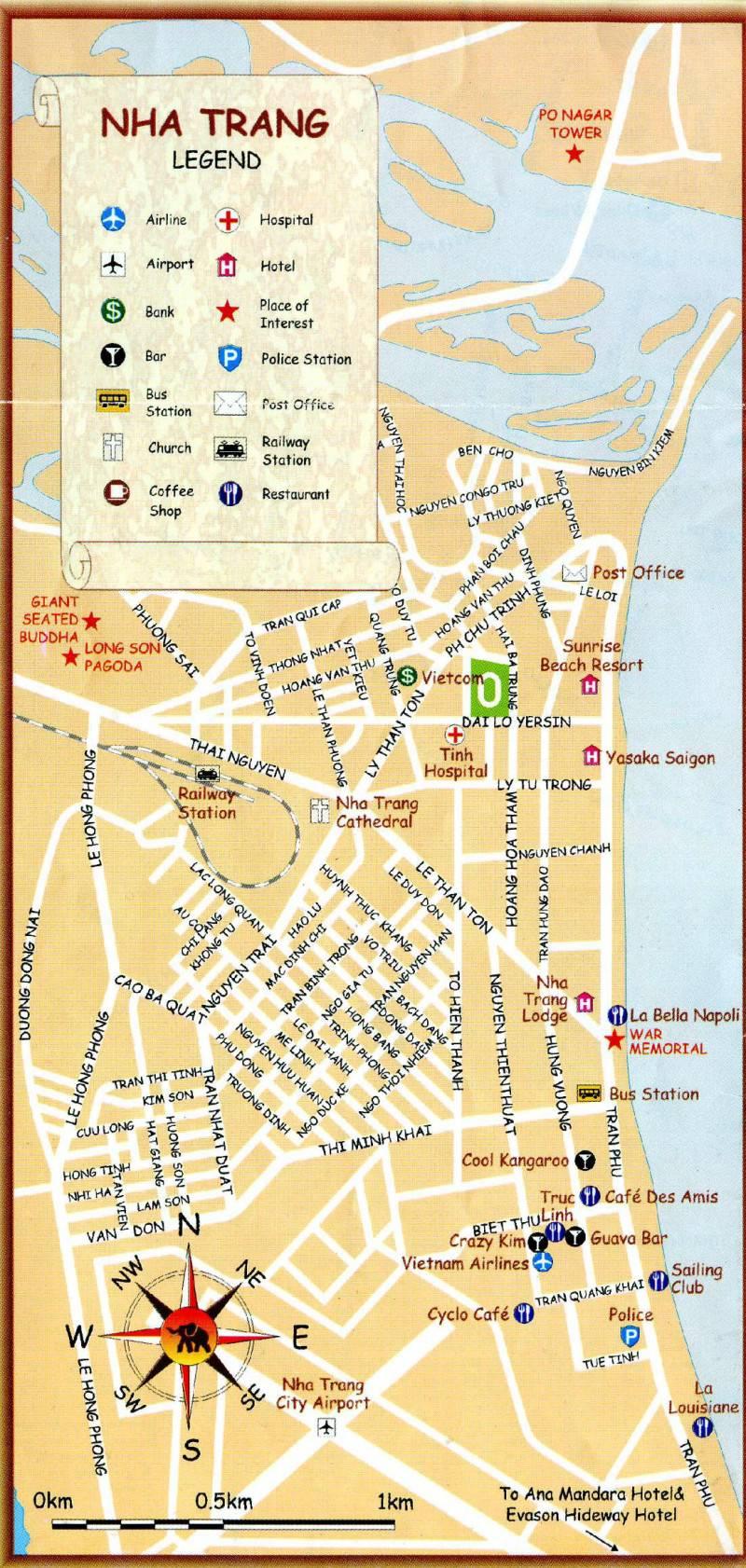это благодаря вьетнам отель мемори нха транг карта улиц становится