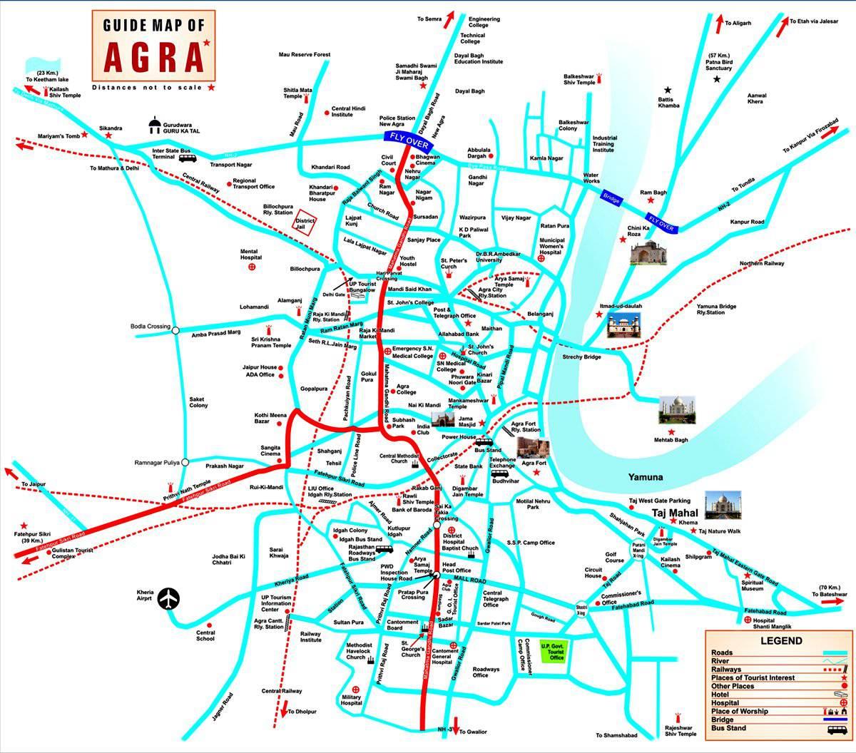 Varanasi road map free download