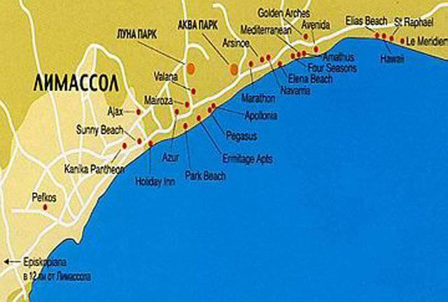 Карта лимассола скачать
