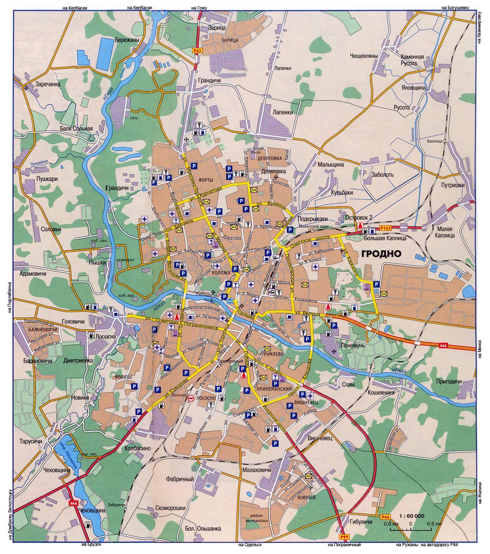 Карта гродно в картинках