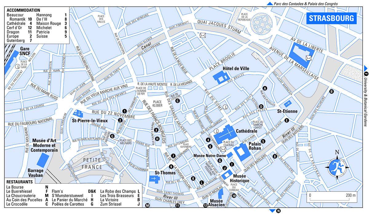 Strasburg Na Karte Mira Podrobnye Karty Strasburga Karta Otelej