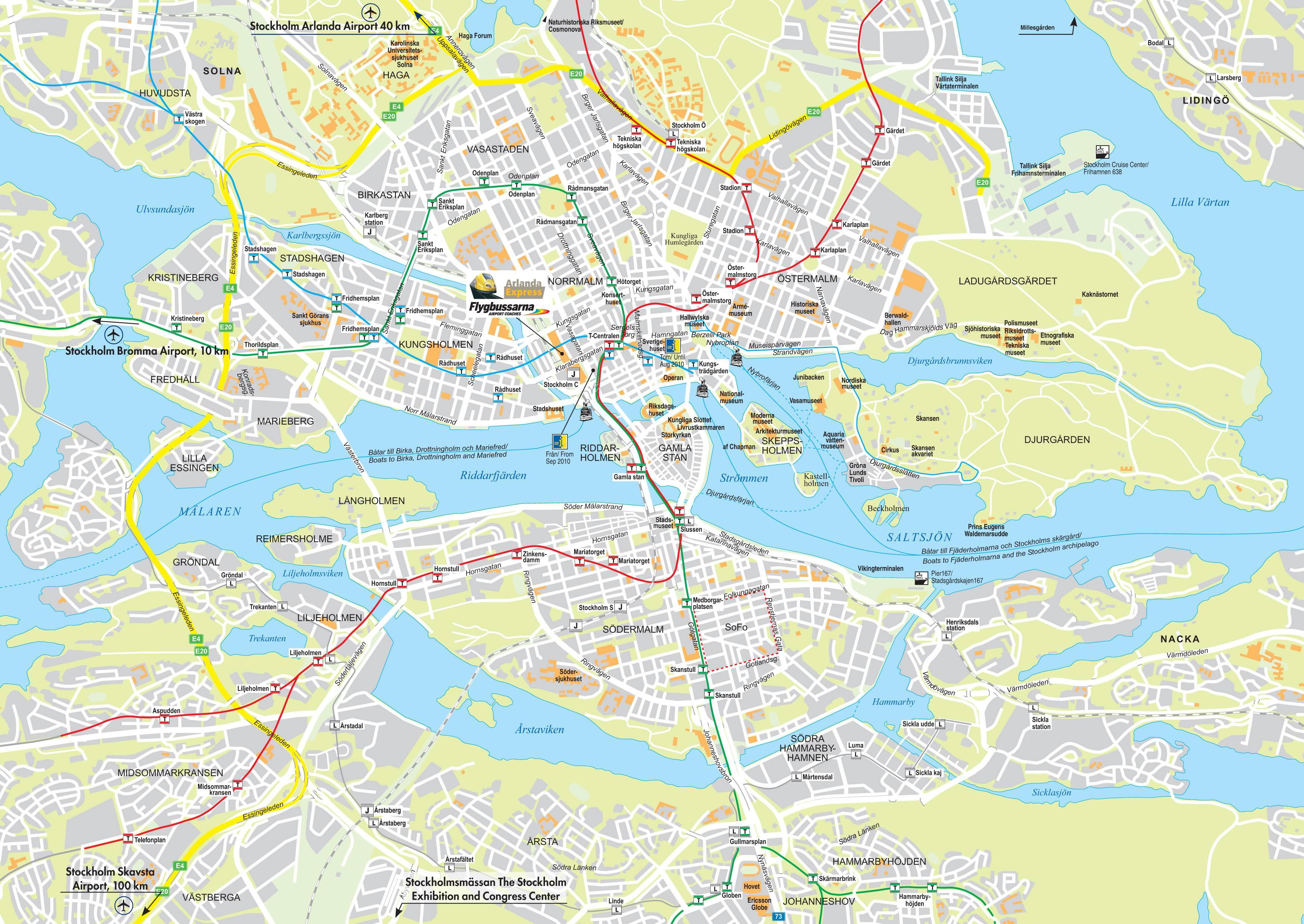 Google Maps - Sweden road map download