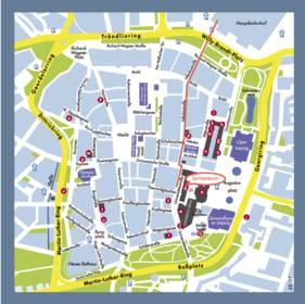 Карта Лейпцига подробная - улицы, номера домов, районы