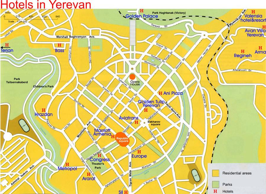 Скачать Карту Еревана На Русском Языке - фото 8