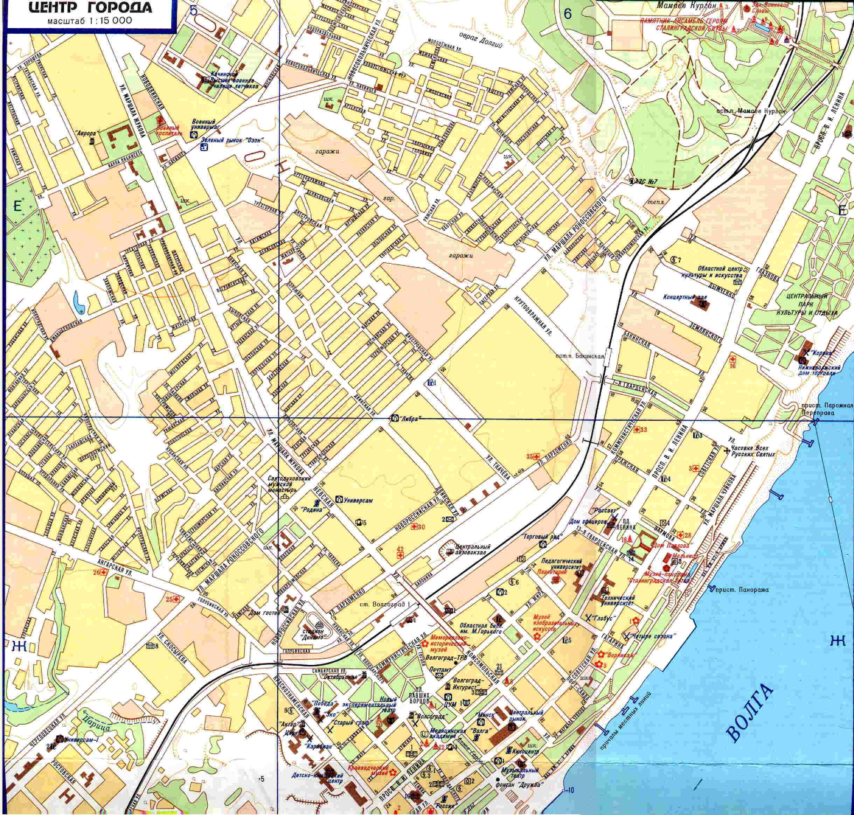 Карты города волгограда картинка