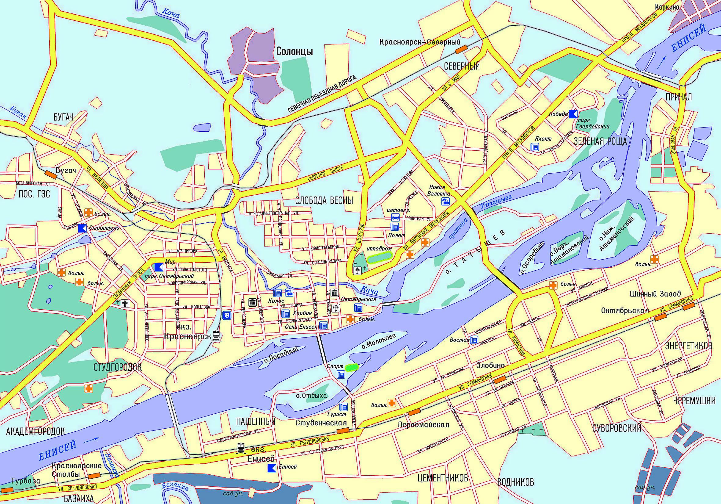 карты онлайн красноярск 2012