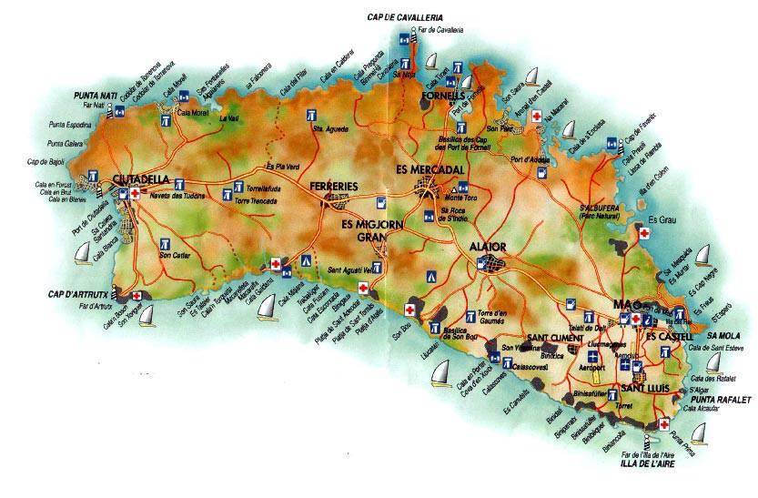 Карта майорки с отелями на русском языке