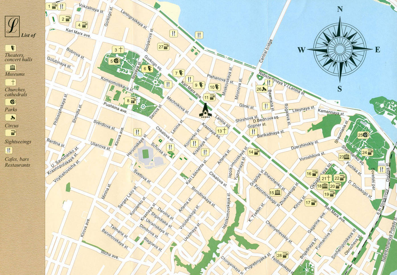 карта города днепропетровска с улицами и домами подробно замок