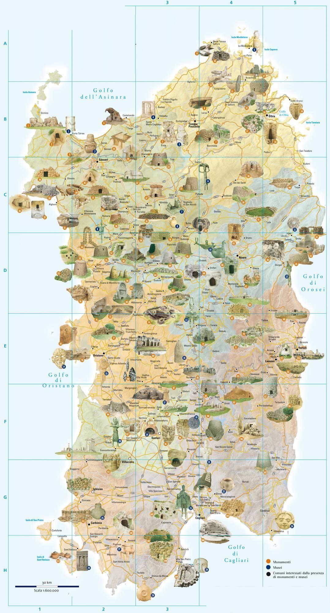 карта сардиния фото города свете более