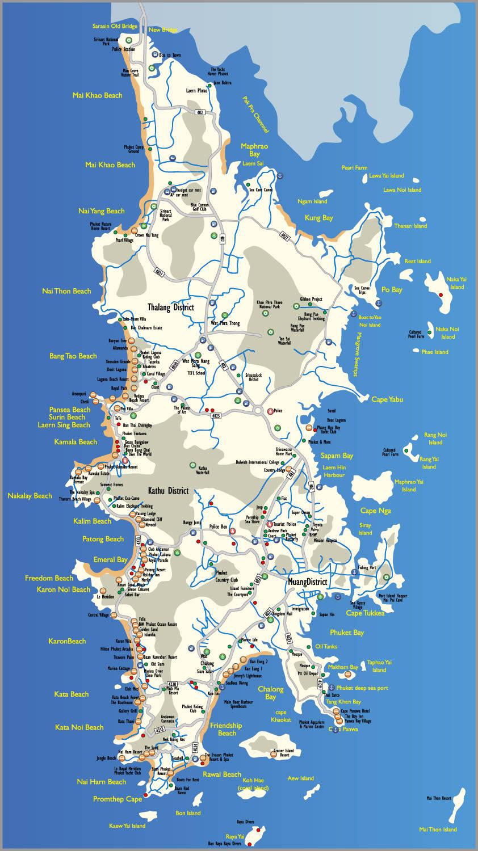 Карта пхукета в картинках