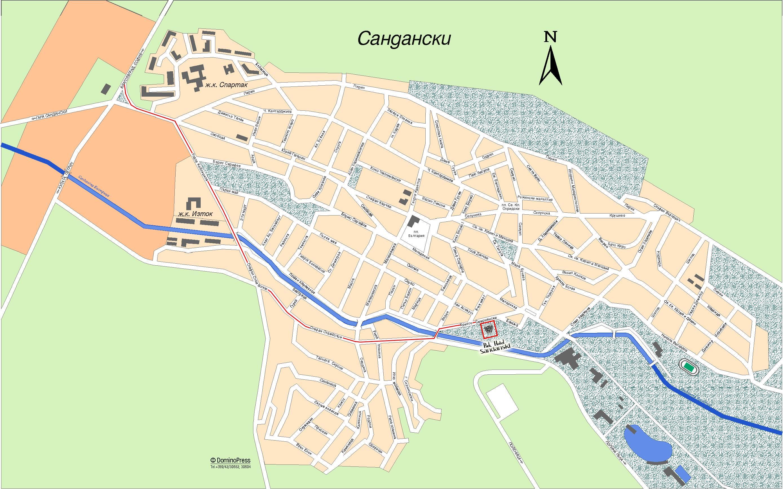 Sandanski Na Karte Mira Podrobnye Karty Sandanski Karta Otelej