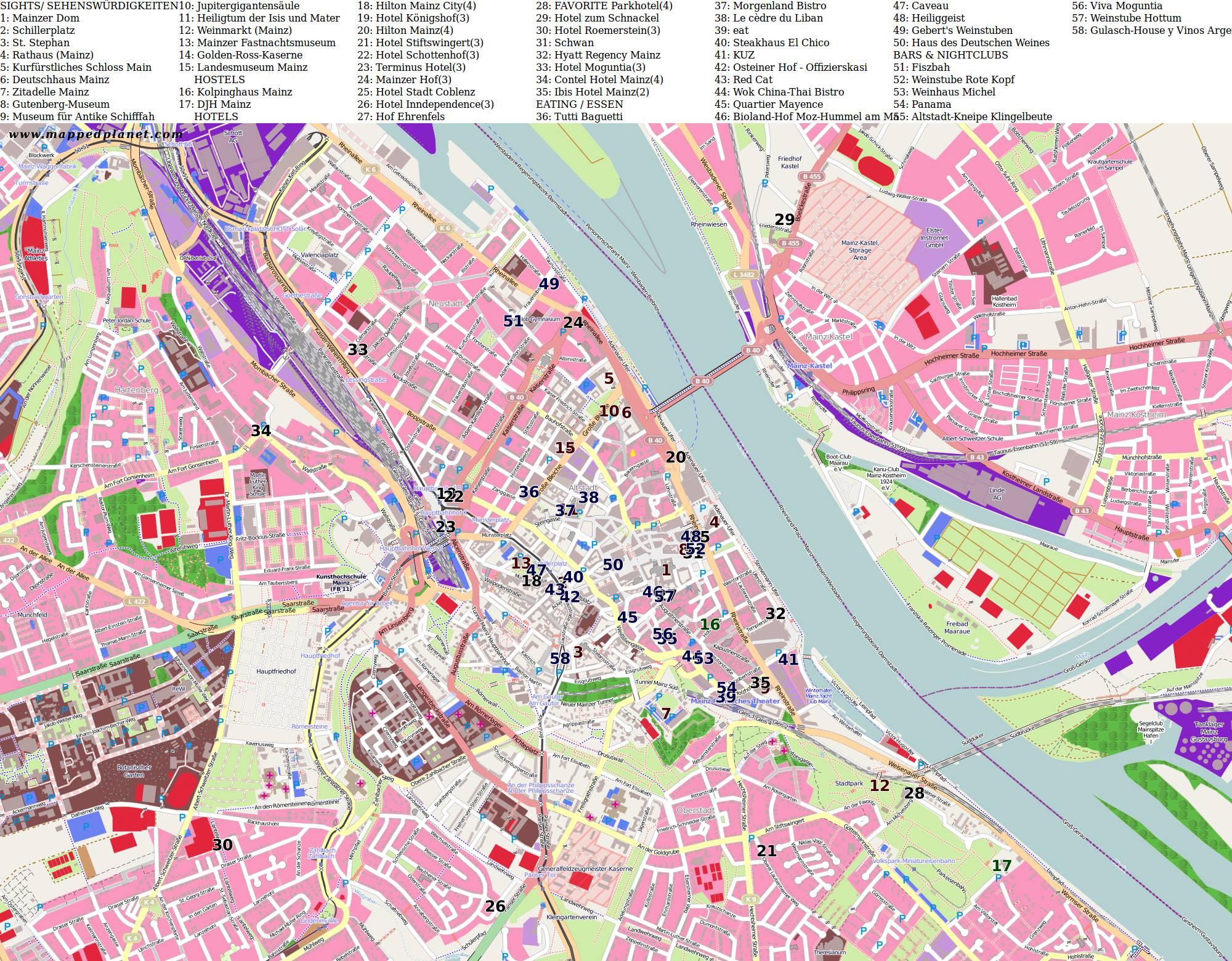 Карта Германии | Подробная карта Германии на русском языке ...