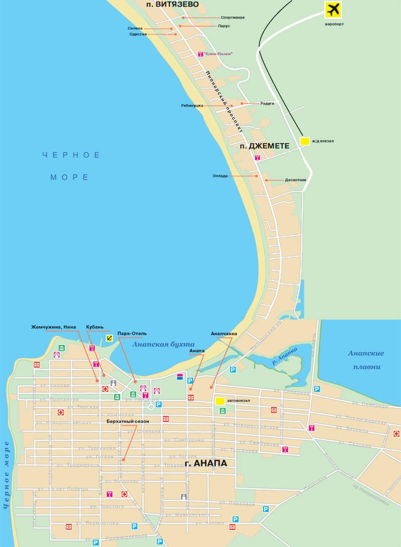 вариант карта автодороги новороссийск витязево аэропорт одеть