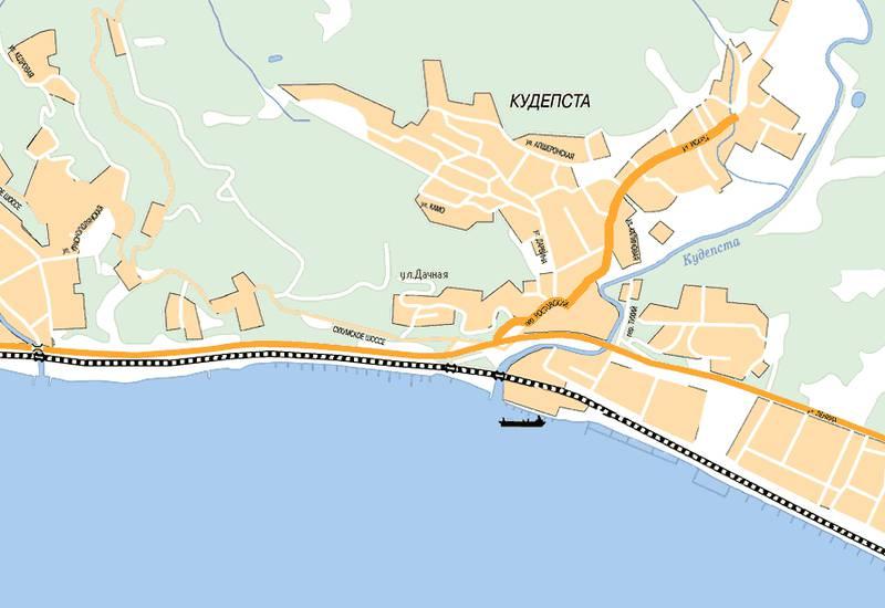 полоска карта города хоста с улицами фото кожа